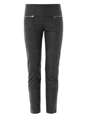 Birdseye tweed cropped trousers