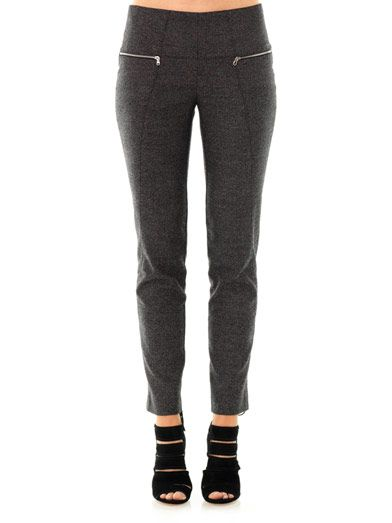 Les Chiffoniers Birdseye tweed cropped trousers
