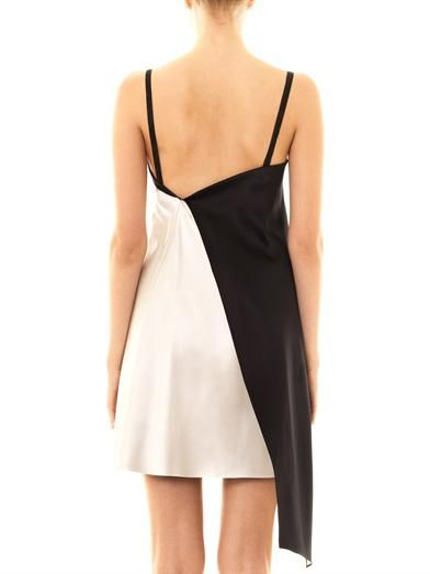Les Chiffoniers Alesia bi-colour sleeveless slip dress