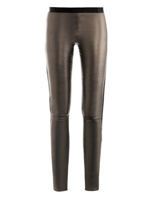 Classic star leather leggings