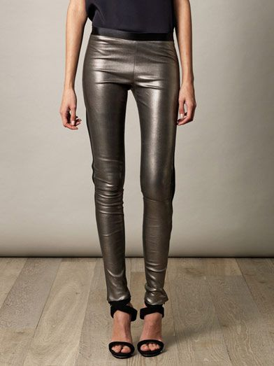 Les Chiffoniers Classic star leather leggings