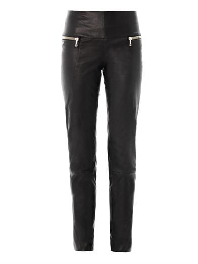 Les Chiffoniers Double zip leather trousers