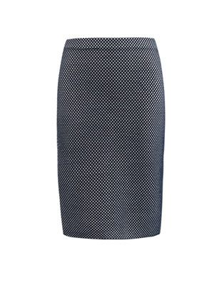 Beehive lace knit skirt