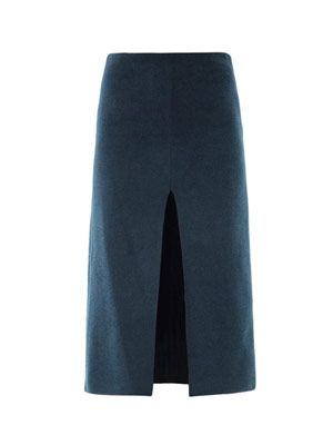 Chenille pencil skirt