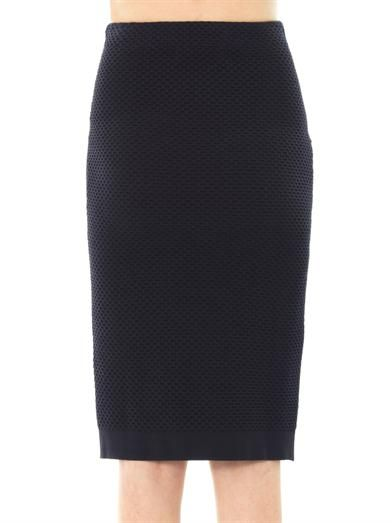Lucas Nascimento Waffle-knit pencil skirt