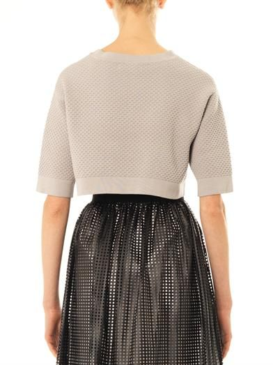 Lucas Nascimento Waffle-knit cropped sweater