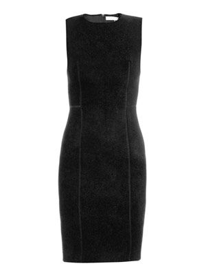 Chenille bodice knit dress