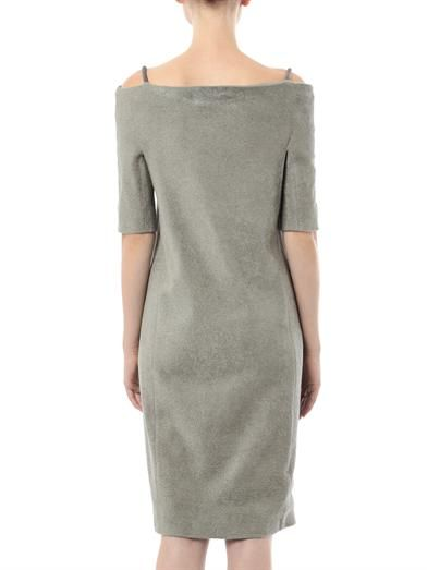 Lucas Nascimento Chenille fitted dress