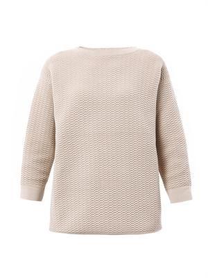 Mesh jacquard sweatshirt