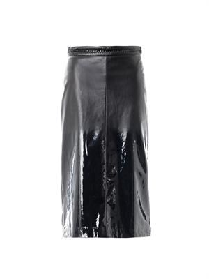 Matt-to-glossy degradé skirt