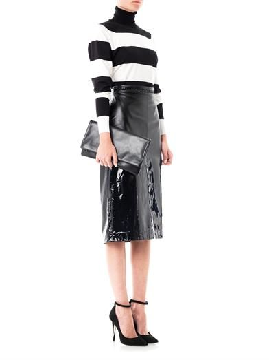 Bottega Veneta Matt-to-glossy degradé skirt