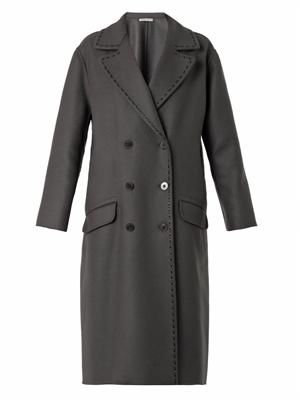 Double-breasted cashmere and wool coat