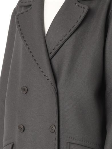 Bottega Veneta Double-breasted cashmere and wool coat