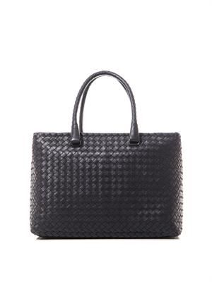 Brick intrecciato leather tote
