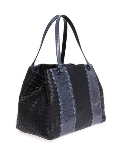 Bottega Veneta Double handle ayers and leather tote