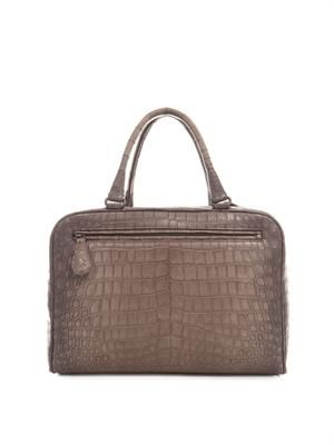 Brera double-handle crocodile tote