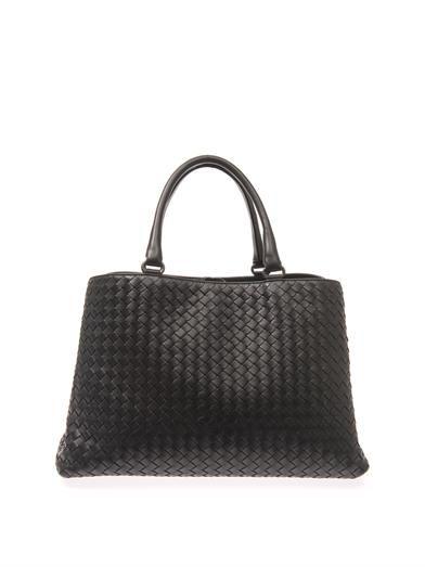 Bottega Veneta Milano intrecciato leather tote