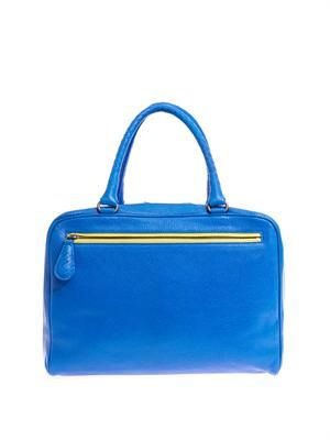 Brera double-handle leather tote