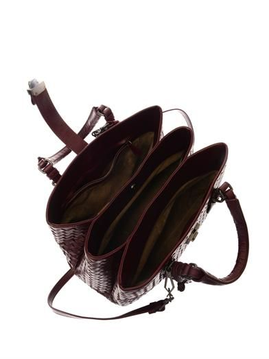 Bottega Veneta Roma intrecciato leather tote