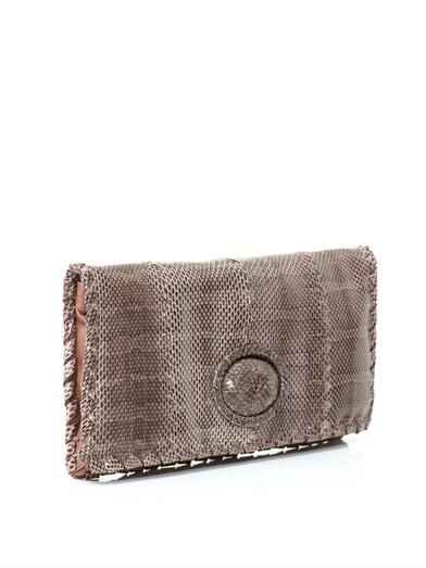Bottega Veneta Ayers water snake clutch