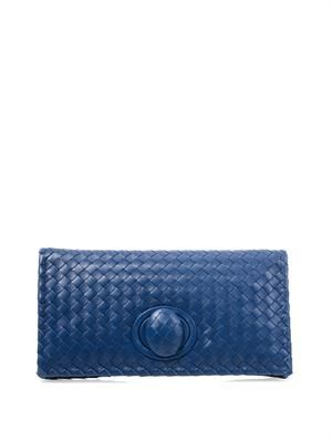 East West intrecciato clutch