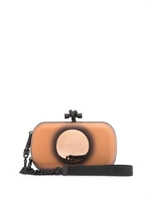 Disc detail Knot leather clutch