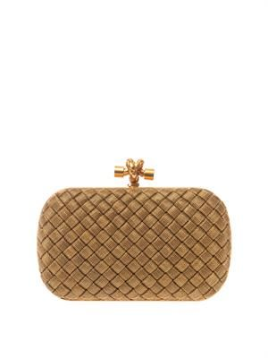 Knot woven-metal clutch