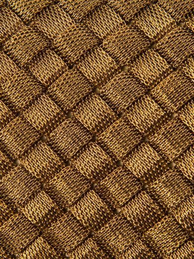 Bottega Veneta Knot woven-metal clutch