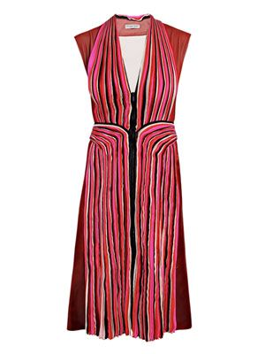 Pleated panel dress