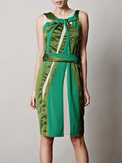 Bottega Veneta Twist-neck paneled dress