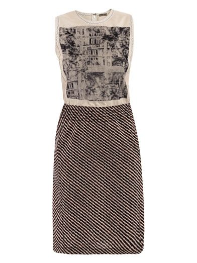 Bottega Veneta Silk Palade photo-stitch dress