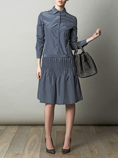Bottega Veneta Pleat-detail shirt dress