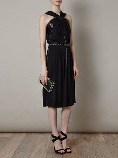Bottega Veneta Ayres snake and studded jersey dress