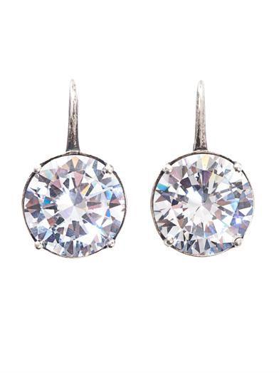 Bottega Veneta Natural oxidized zircon earrings