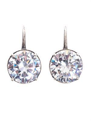 Natural oxidized zircon earrings