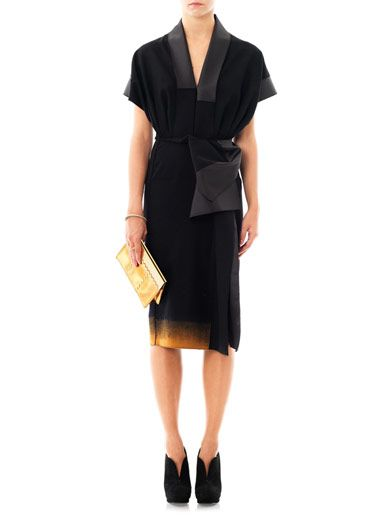 Bottega Veneta Kimono sleeve wool dress