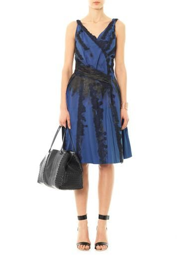 Bottega Veneta Lace embroidered sleeveless dress