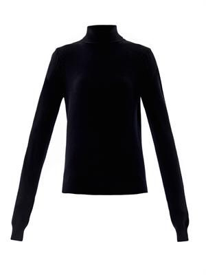 Cashmere roll-neck sweater