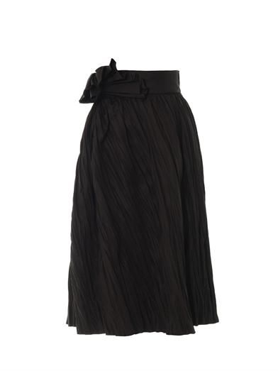 Bottega Veneta Refined ramie pleated skirt