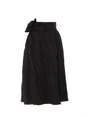 Refined ramie pleated skirt