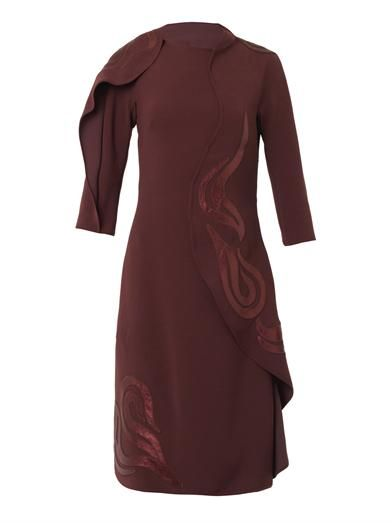 Bottega Veneta Metallic-leather and techno-crepe dress