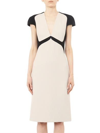 Bottega Veneta Bi-colour wool-crepe dress