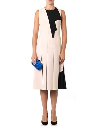 Bottega Veneta Bi-colour multi-panel crepe dress