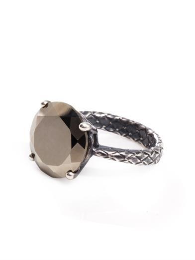 Bottega Veneta Pyrite stone and silver ring