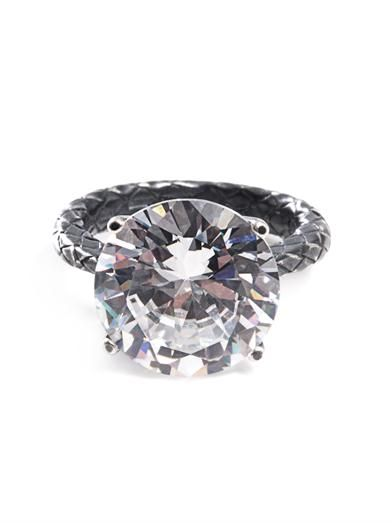 Bottega Veneta Cubic zirconia and silver ring