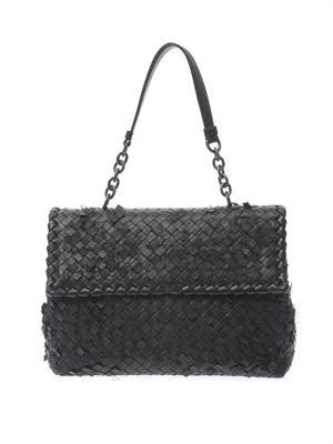 Olimpia leather shoulder bag