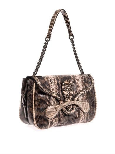 Bottega Veneta Rialto snakeskin shoulder bag