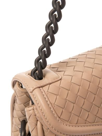 Bottega Veneta Rialto intrecciato leather shoulder bag