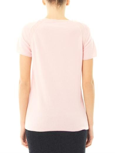 Bottega Veneta Silk-chiffon trim cashmere sweater