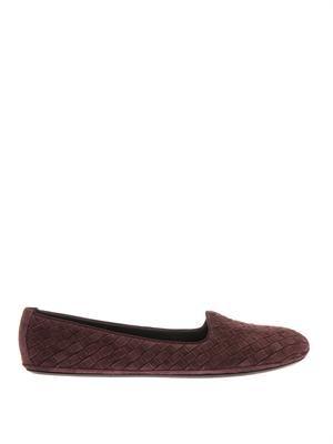 Intrecciato suede outdoor slippers
